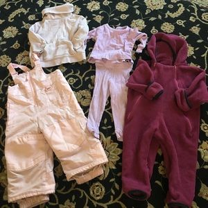 Toddler girls size 18-24 months snow/ski outfit